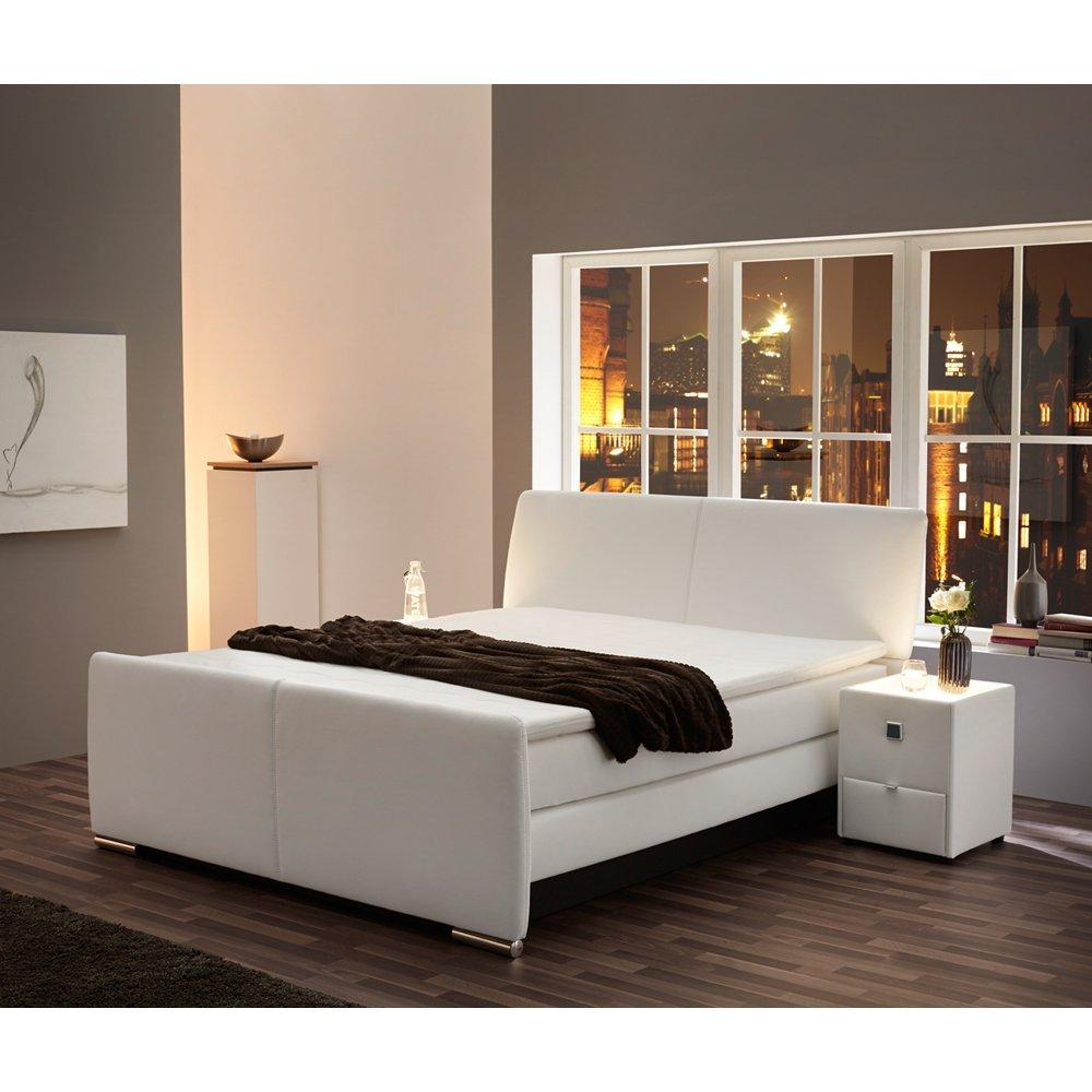Boxspringbett Bett Doppelbett Ehebett Hotelbett Charlotte Kunstleder 180x200 cm