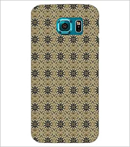 PrintDhaba Pattern D-5252 Back Case Cover for SAMSUNG GALAXY S6 EDGE (Multi-Coloured)