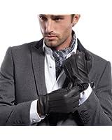 MATSU Men Winter Warm Deerskin Leather 100% Cashmere Lined Gloves M1066