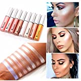 8 Colors Set Long-lasting Makeup eyeshadow Liquid Highlighter Liquid Cosmetic Glow Brightener Shimmer-Silver, Rose, Golden color (Color: Shimmer)