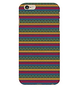 Vizagbeats Zigzag Pattern Back Case Cover for Apple Iphone 6S