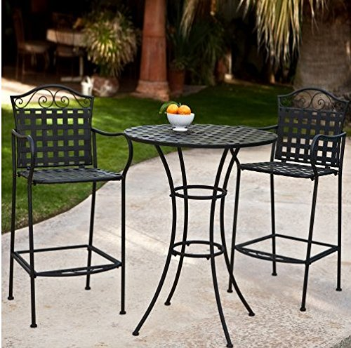 3-Piece-Outdoor-Bistro-Set-Bar-Height-Black-This-Traditional-Patio-Furniture-is-Stylish-and-Comfortable-Bistro-Sets-Compliment-Your-Patio-Deck-Or-Pool-Area-Perfectly-Patio-Furniture-Sets-Of-This-Quali