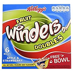 Kellogg's Fruit Winders Doubles Apple & Strawberry, 102g