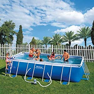 bestway frame pool set rechteckig 549 x 274 x 122cm garten. Black Bedroom Furniture Sets. Home Design Ideas