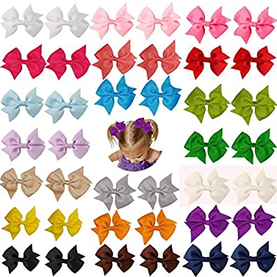 Prohouse?TM) 40Pcs 20 Pairs Baby Girl Grosgrain Ribbon Boutique Hair Bows For Teens Baby Girls Babies Toddlers
