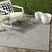 "Safavieh Courtyard Collection CY8653-37621 Black and Light Grey Indoor/ Outdoor Area Rug (4 x 57"")"