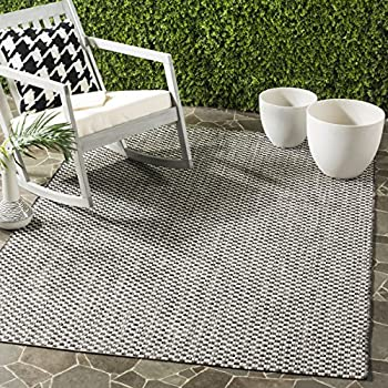 Safavieh Courtyard Collection CY8653-37621 Black and Light Grey Indoor/ Outdoor Area Rug (4 x 57