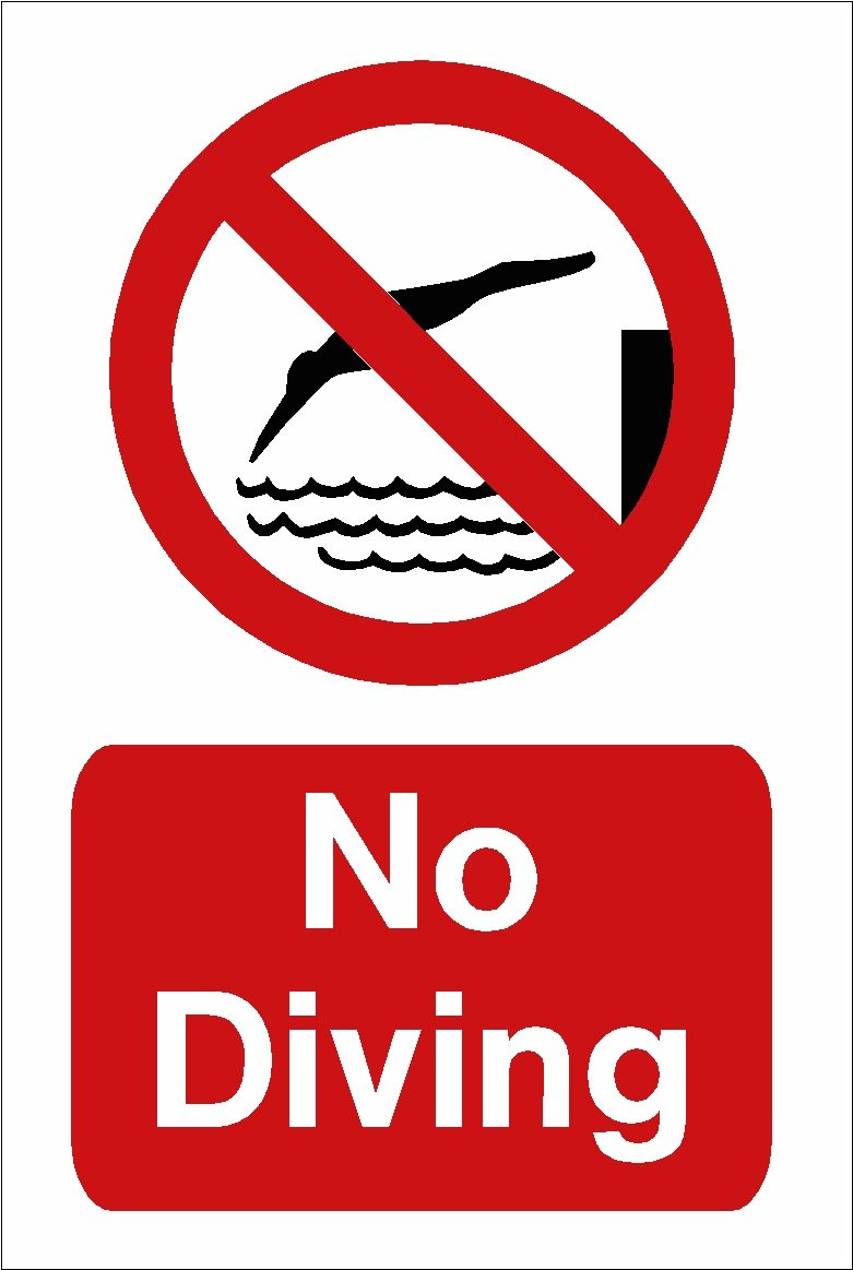 Pool Signs No Diving Images