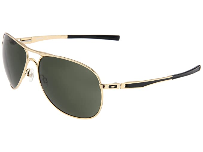 Oakley Men's Plaintiff Sunglasses (Polished Gold Frame/Dark Grey Lens)