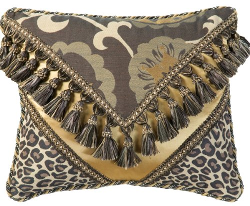 Jennifer Taylor Espresso Collection Pillow, 15-Inch by 18-Inch