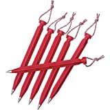 MSR Dart 6-Pack Tent Stake, 9-Inch (Color: Red, Tamaño: 9in)