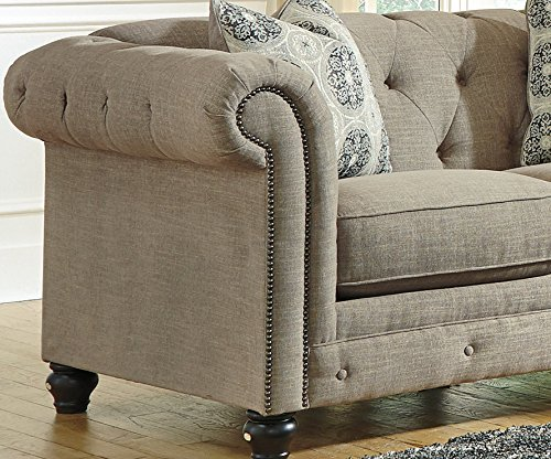 Azlyn Grey Vintage Casual Fabric Loveseat 3