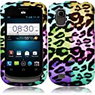 Cell Accessories For Less (TM) For ZTE Prelude Z992 / Avail 2 Z993 Rubberized Design Cover Case - Colorful Leopard - By TheTargetBuys *FREE SHIPPING*