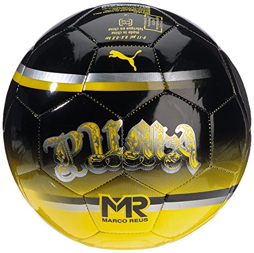 PUMA, Pallone da calcio EVO Lite, Nero (Black/Vibrant Yellow/Metallic Silver/Mr), 3