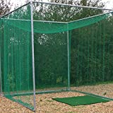 GOLF CAGE - Includes Galvanised Frame & Net (Professional Golf Club Spec) [Net World Sports]