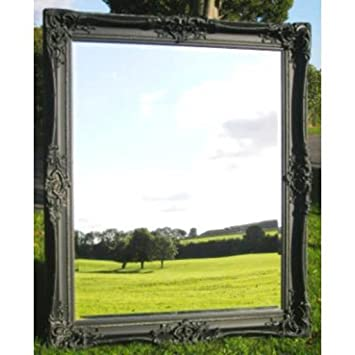 6ft x 5ft Large Black Monaco Mirror (6ft x 5ft)