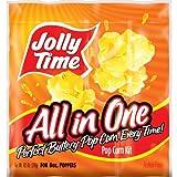 JOLLY TIME All in One Popcorn Kit - Bulk Popcorn Kernels Oil & Salt, 10.5 Oz. (Case of 36 Kits)