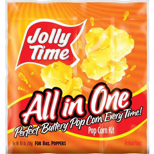 Jolly Time All-in-One Popcorn Kernel, Oil & Salt Portion Kits for 8 oz. Poppers (Pack of 36) (Kernel Popcorn Oil compare prices)