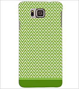 PrintDhaba Zig Zag Pattern D-1694 Back Case Cover for SAMSUNG GALAXY ALPHA (Multi-Coloured)