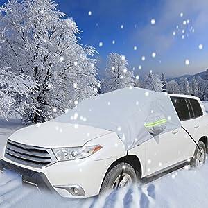 Pushingbest 車用 フロントガラス 積雪 凍結防止シート SUV対応可能