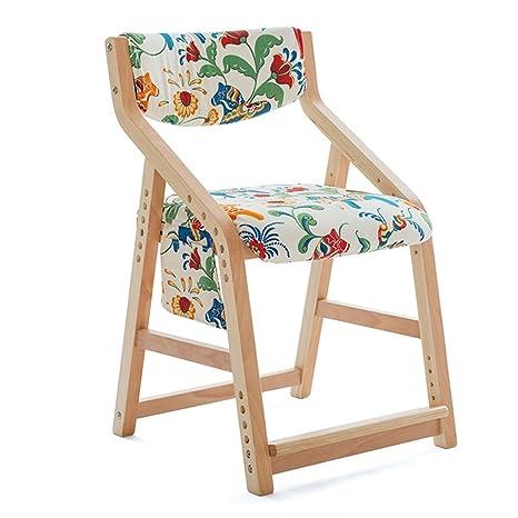 ERRU-Sillas Silla ajustable Silla de mesa de madera maciza Sillas de las del hogar (5Colors, 48 * 51 * los 77cm) ( Color : C )