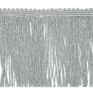 "Amazon.com: 5 yards of 4"" Metallic Chainette Fringe Trim Silver: Arts"