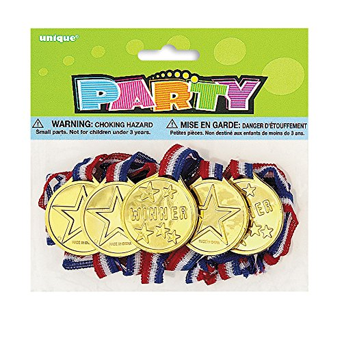 Gold Medal Party Favors, 5ct - 1