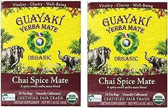 Guayaki Chai Spice Mate Tea Bags 100 Organic 16 Tea Bags Pack of 2