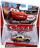 Disney Pixar CARS 2 Exclusive 1:55 Die Cast Car SILVER RACER Lightning McQueen With Metallic Finish (Metallic Deco) - Voiture Miniature Echelle 1:55
