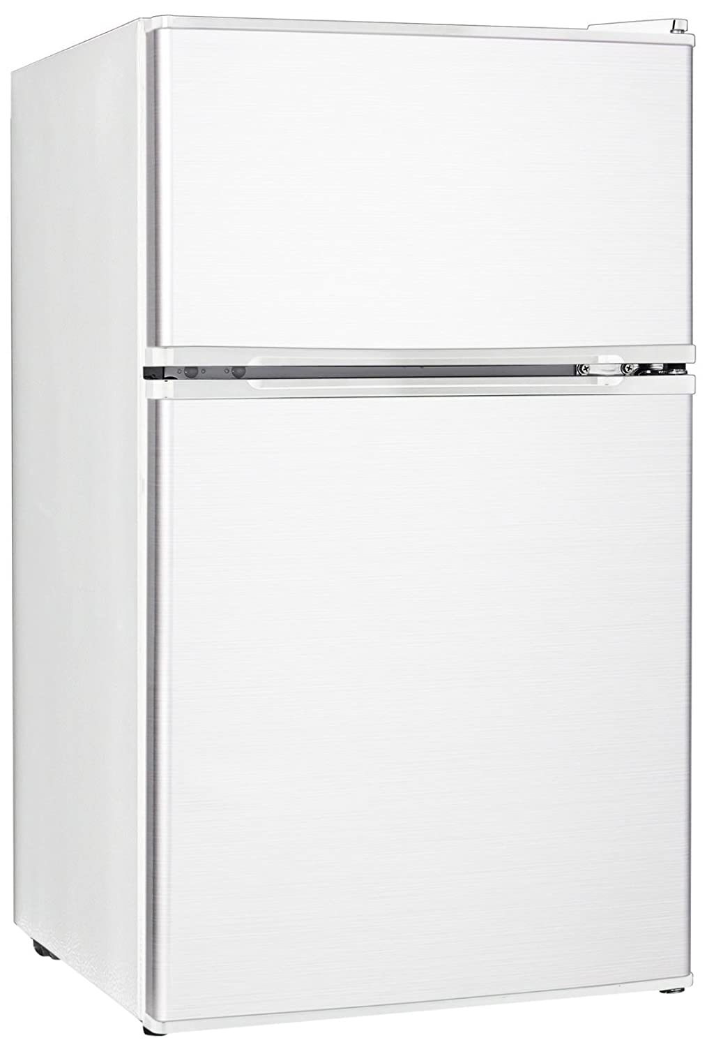 midea WHD-113FW1 Double Reversible Door Refrigerator and Freezer, 3.1 Cubic Feet, White