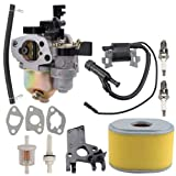 Coolwind GX160 GX200 5.5HP 6.5HP Carburetor with Tune Up Kit for Honda Engine WP30X Water Pump 16100-ZH8-W61