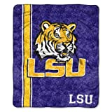 NCAA LSU Tigers 50-Inch-by-60-Inch Sherpa on Sherpa Throw Blanket