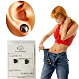 Iuhan Bio Magnetic Slim Ear Stickers Earrings Acupoints Loss Weight Wearing Slimming Stud (Color: Black, Tamaño: As The Picture Show)