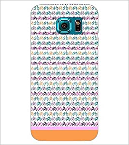 PrintDhaba Cycle Pattern D-1464 Back Case Cover for SAMSUNG GALAXY S6 EDGE (Multi-Coloured)