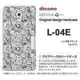 docomo Optimus G Pro L-04E ケース Optimus G Pro L-04E カバー ケース・ジャケット【レース柄 ブラック/l04e-M739】