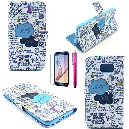 Note 3 Case, JCmax Superior Ultra Slim PU Synthetic Leather Wallet Case With Cards Slot Super Shockproof [Build In Stand] With Slender Fitted Skin For Samsung Galaxy Note 3-Okey