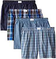 Tommy Hilfiger Men's 4 Pack Blue Plai…
