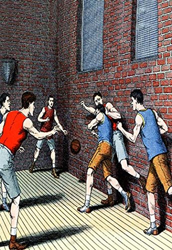 """Buyenlarge Getting Physical on The Basketball Court - 8"""" X 12"""""""" Fine Art Giclee Print"""