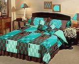 Raymond Magnifique Cotton 5 Piece Double Bedding Set - Turquoise