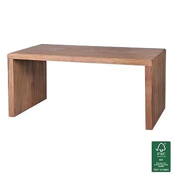 Wohnling WL1.469 Scrivania di design in legno di acacia massiccio, 160 x 80 x 76 cm