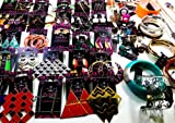 25-pcs.costume Jewelry Mix-lot. Includes: 10-earrings,7-necklaces,4-bracelets,4-rings. All Pieces Are Retail Card. Over Stock Clearance Sale. Styles Are Assorted and May Vary. At Wholesale Price.