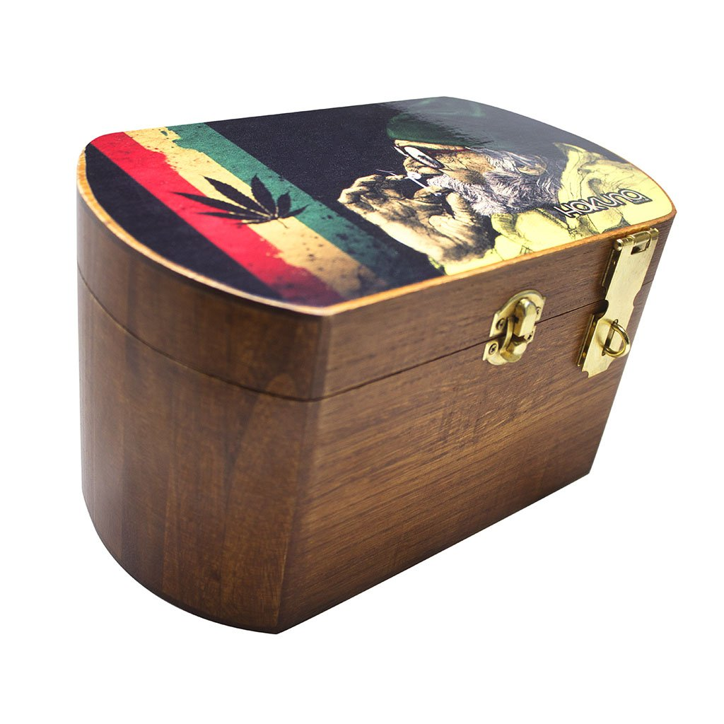 Locking Wooden Stash Box