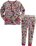 [Vaenait Baby]キッズ子供ベビー服綿100%ルームウェア長袖パジャマ寝間着上下セット Button Flower Hotpink XL