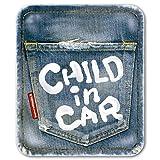 ヴィンテージデニム風 CHILD IN CAR チャイルドインカー ステッカー チャイルドinカー 子供が乗っています/メイヴルアットホーム