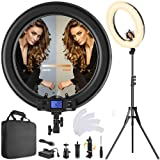 Ring Light,Upgraded Version 19inch with LCD Display Adjustable Color Temperature 3000K-5800K with Stand, YouTube Makeup Dimmable Video LED Light Kit, for Video Shooting, Portrait, Vlog, Selfie (Color: IR-45N, Tamaño: IR-45N)