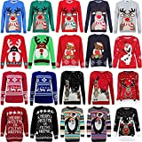 MyShoeStore-Unisex-Mens-Ladies-Womens-Novelty-1970s-Vingtage-Jumper-Sweater-Retro-Christmas-Xmas-Reindeer-Rudolph-Olaf-Frozen-Penguin-Pom-Pom-Nose-Pull-Over-Winter-Knitted-Jumpers-Tops-Plus-Big-Size