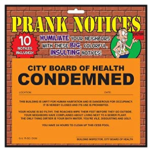Big Mouth Toys Prank Notices, 10 Pack