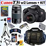 Canon EOS Digital Rebel T3i 18MP SLR Camera 18-55mm & 75-300mm 16GB Bundle!