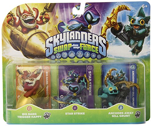 Skylanders SWAP Force Triple Character Pack: Big Bang Trigger Happy, Star Strike, Anchors Away Gill Grunt - 1