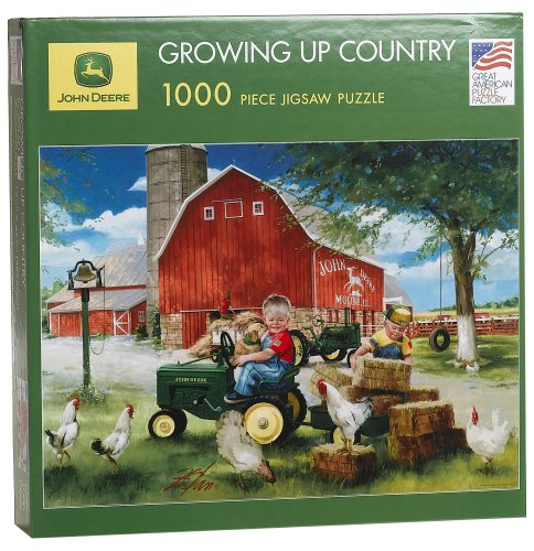 Cheap Fun Great American Puzzle Factory John Deere Growing Up Country 1000 Piece Jigsaw Puzzle (B000EWZ306)